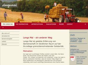 Website von Longo maï