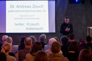 Vortrag über Unternehmensdemokratie bei der Socialbar Düsseldorf, April 2016