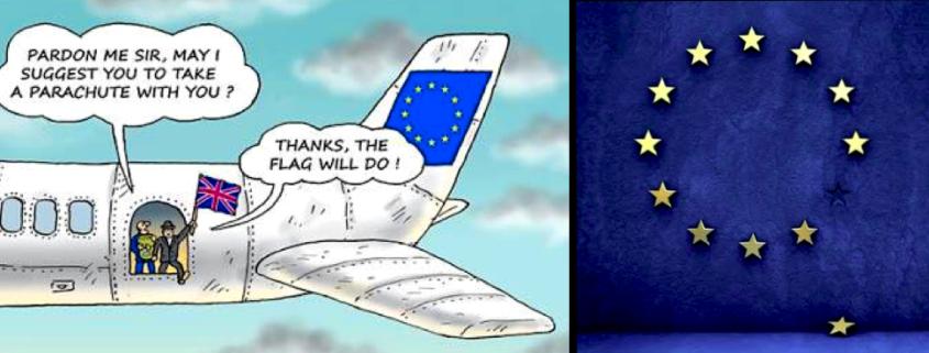Brexit - Parachute & Flag