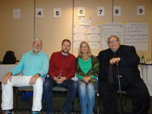 Arne Reis (second from left) with Radical Collaboration experts Jim Tamm (left), Celeste Blackman and Ron Luyet